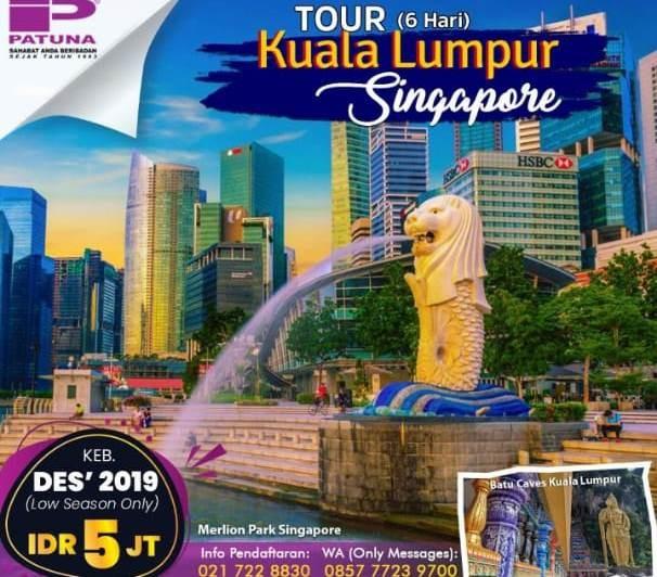 Menikmati Taman Indah di Singapore, dengan Paket 2 Negara