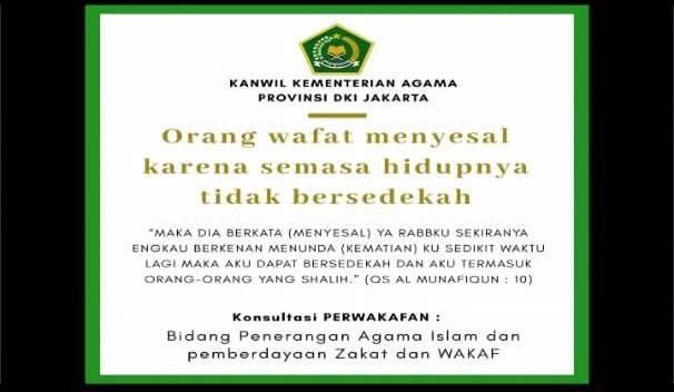 Kemenag : Soal Wakaf, Nazir Itu Wakil Tuhan
