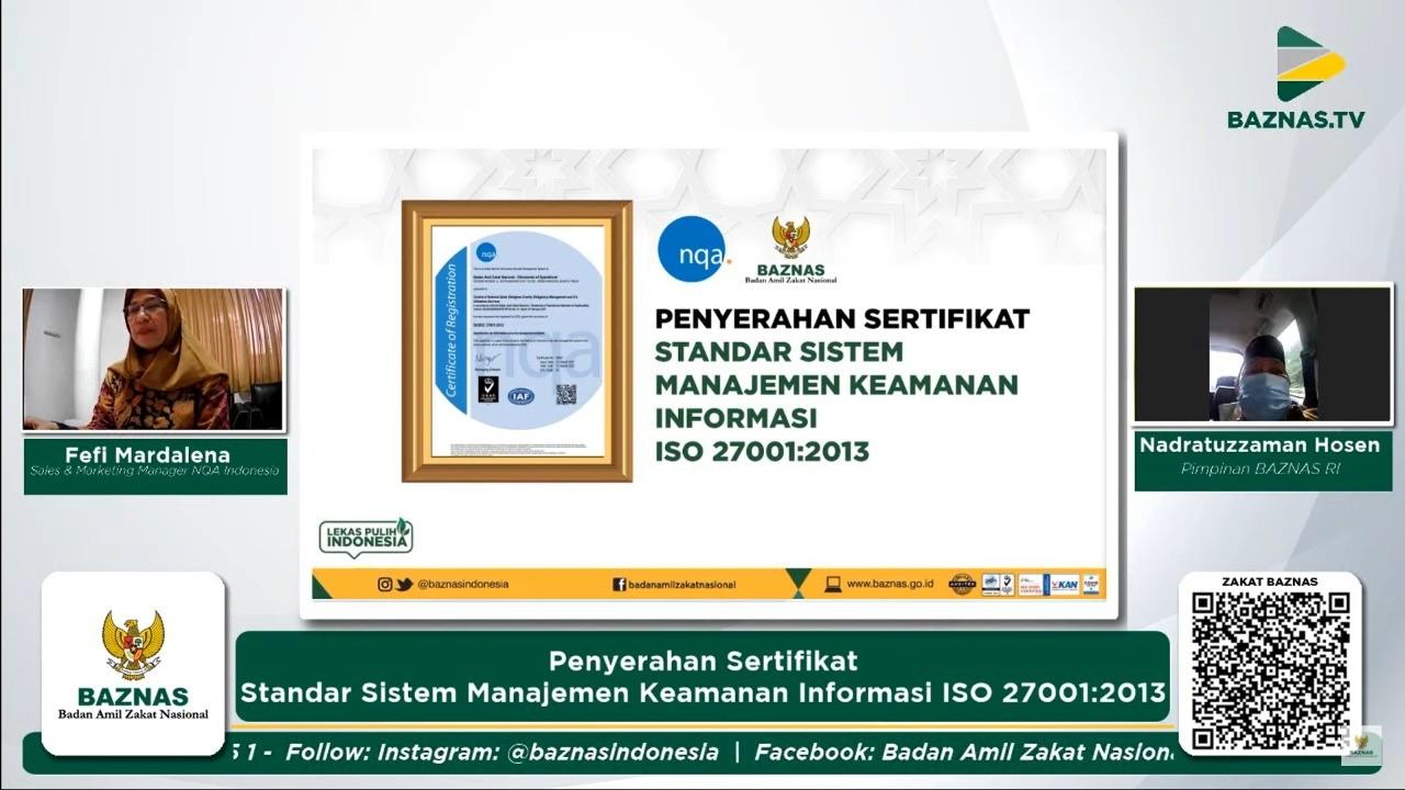 Kado Ramadhan 2021 : BAZNAS Raih ISO Sistem Keamanan Informasi
