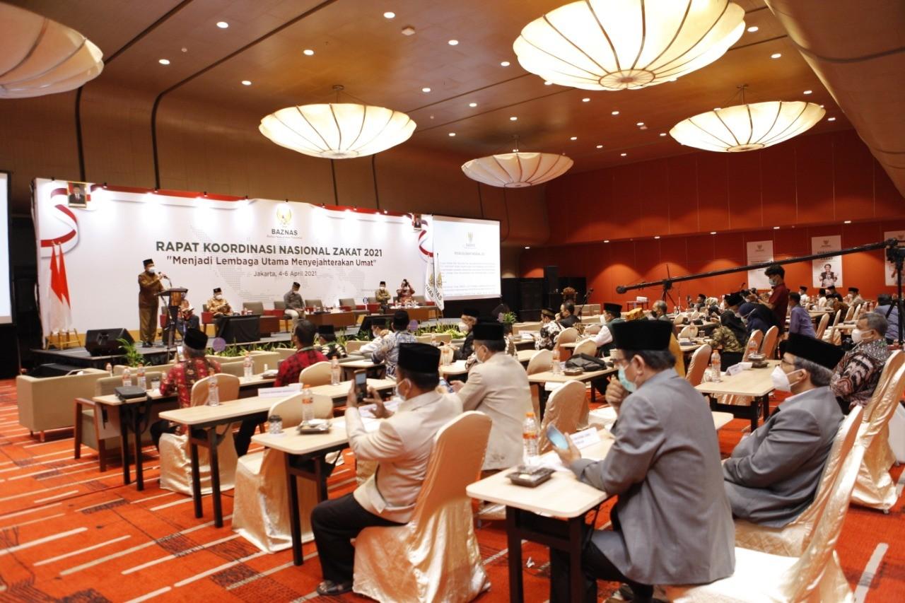 Dihadapan 130 Pimpinan BAZNAS, Menko Perekonomian Nyatakan Dukungan Regulasi Penguatan Zakat